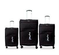 סט מזוודות 3 גדלים SWISS - צבע לבחירה