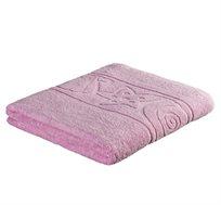 """מגבת אמבט 100X150 ס""""מ בעיטור דוגמת צדפים במגוון צבעים לבחירה"""