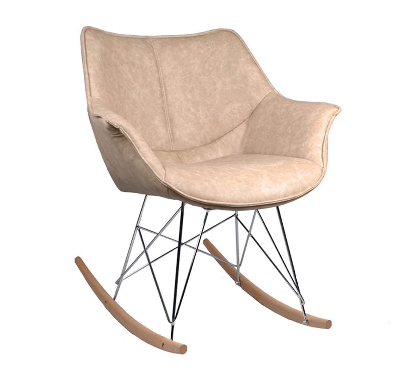 כסא נדנדה מרופד לסלון ולשאר חדרי הבית מעוצב בסגנון מודרני בצבעים לבחירה דגם רוקר U DESIGN - משלוח חינם - תמונה 2