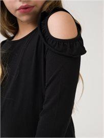 חולצת טי עם פתחים בכתפיים