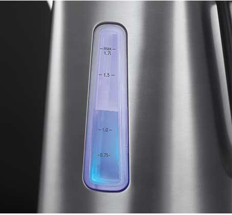 קומקום חשמלי LUNA אפור מטאלי RUSSELL HOBBS דגם 23211-70 הספק 2400W קיבולת 1.7 ליטר - משלוח חינם - תמונה 3