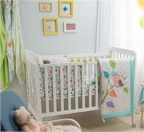 סט מצעים 3 חלקים למיטת תינוק 100% כותנה סאטן - ינשוף