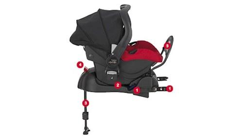 סלקל לתינוק Primo כולל בסיס איזופיקס - חום - משלוח חינם - תמונה 2