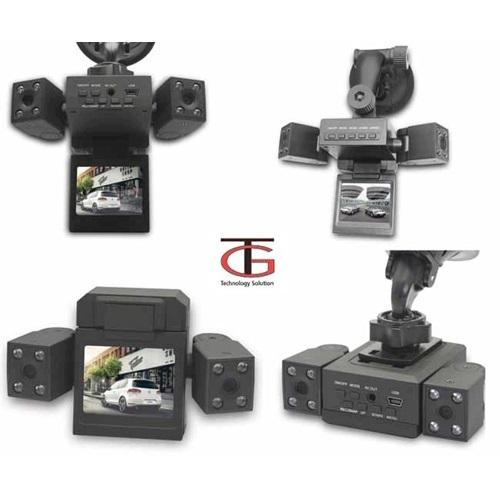 מצלמת רכב דו כיוונית לצילום פנים הרכב והדרך עם 2 עדשות מתכווננות +כרטיס זיכרון 16GB מתנה - משלוח חינם - תמונה 3