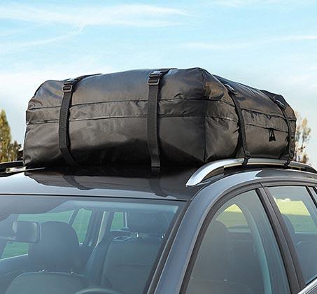 תיק דוחה מים לגג הרכב 570 ליטר בעל עיצוב יחודי לחיסכון בדלק, כולל רצועות מתיחה עם וו ברזל - משלוח חינם - תמונה 3