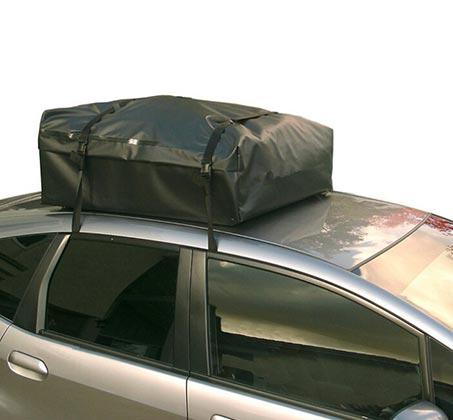 תיק דוחה מים לגג הרכב 570 ליטר בעל עיצוב יחודי לחיסכון בדלק, כולל רצועות מתיחה עם וו ברזל - משלוח חינם - תמונה 2
