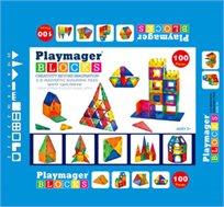 משחק מגנטים PLAYMAGER - הרכבה בתלת מימד, 100 חלקים לפיתוח הדמיון, יצירתיות, חשיבה מרחבית ועוד - משלוח חינם!