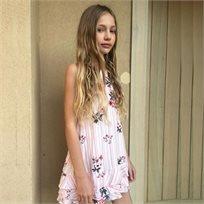 Ninell's שמלה  (14-4 שנים) - לבן פרחוני