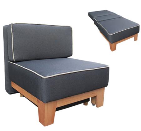כורסת ארוח קומפקטית חד מושבית נפתחת למיטת יחיד כוללת ארגז מצעים דגם גולן Or-Design - תמונה 2