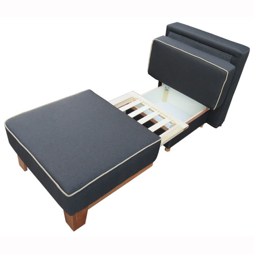 כורסת ארוח קומפקטית חד מושבית נפתחת למיטת יחיד כוללת ארגז מצעים דגם גולן Or-Design - תמונה 4