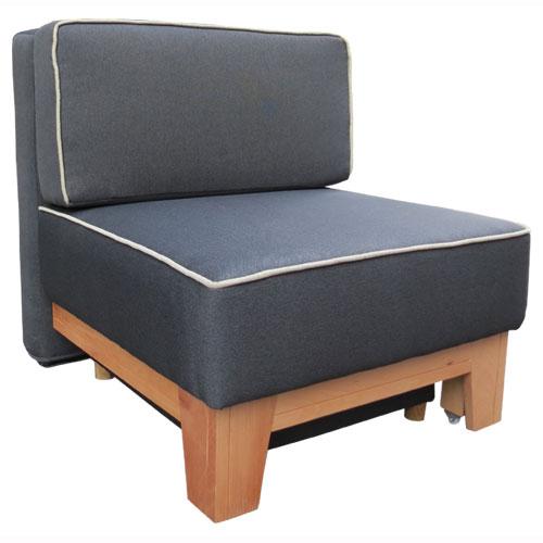 כורסאת אירוח נפתחת למיטת יחיד עם ארגז מצעים דגם גולן