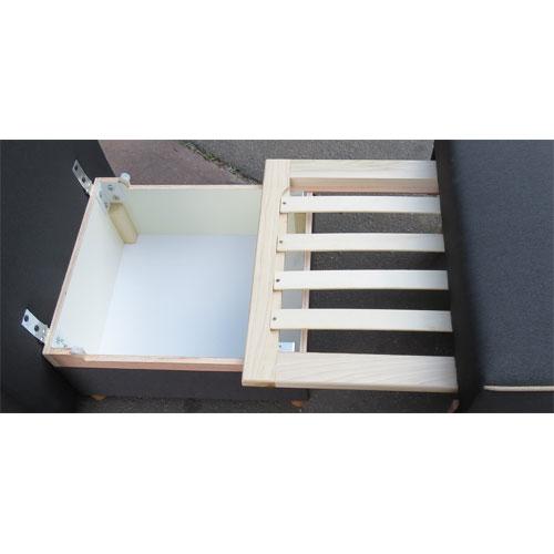 כורסת ארוח קומפקטית חד מושבית נפתחת למיטת יחיד כוללת ארגז מצעים דגם גולן Or-Design - תמונה 5