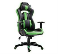 כיסא גיימרים אורתופדי עשוי דמוי עור עם מבנה אורגמי המקנה תמיכה לכל הגוף