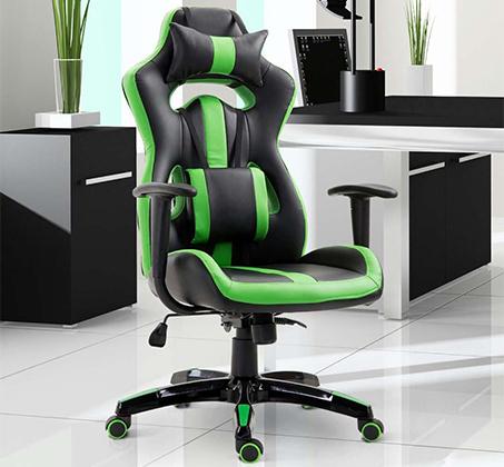 כיסא גיימרים אורתופדי עשוי דמוי עור עם מבנה אורגמי המקנה תמיכה לכל הגוף  - משלוח חינם - תמונה 3