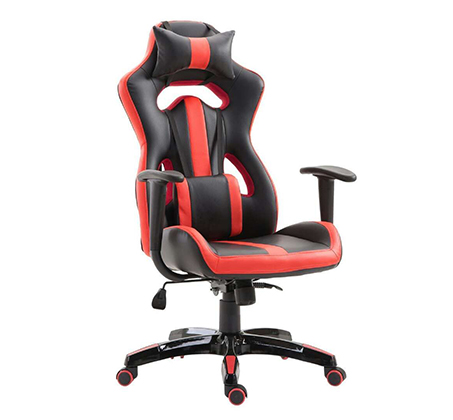 כיסא גיימרים אורתופדי עשוי דמוי עור עם מבנה אורגמי המקנה תמיכה לכל הגוף  - משלוח חינם - תמונה 4