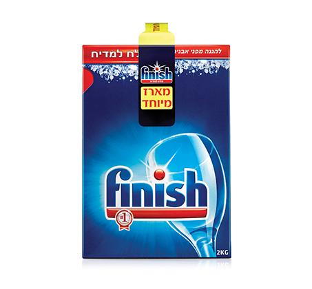ערכת Finish למדיח הכוללת טבליות, נוזל הברקה, מפיג ריח, מלח ומנקה מדיח - תמונה 3