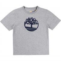 TIMBERLAND טימברלנד (12-8 שנים) חולצה - אפור סמל באמצע