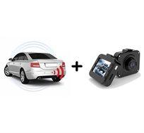 מצלמת וידאו לרכב+חיישני רוורס עם תצוגת LED צבעונית וצג איכותי, כולל התקנה ברשת מוטורולה בפריסה ארצית
