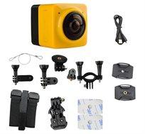 מצלמת וידאו פנורמית 360 מעלות FULL HD למגוון שימושים ספורט טבע ותנועה +חיבור אלחוטי לסמארטפון