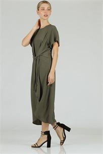 שמלה טיי זית - CUBiCA