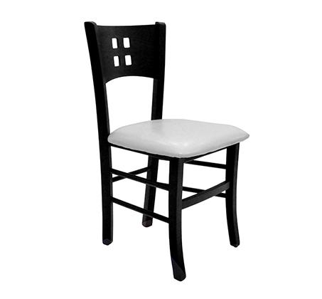 כסא מטבח מעץ כולל ריפוד מושב דגם דומינו