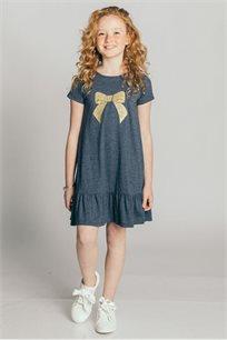 שמלת טריקו לילדות - כחול