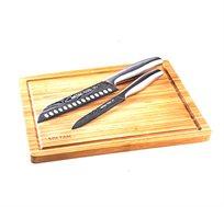 מארז סכינים samurai חריטה עם בוצ'ר