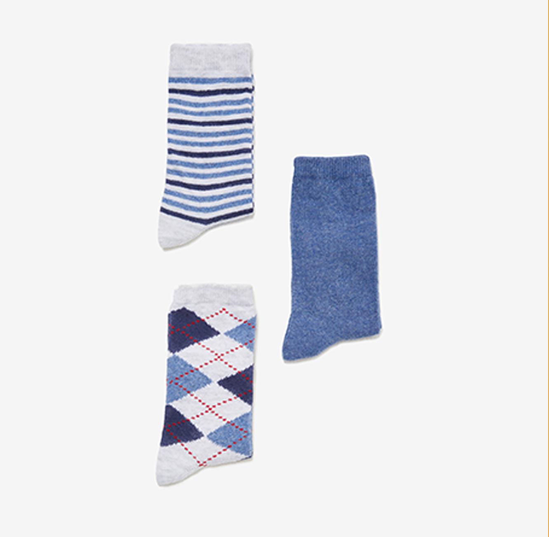 מארז 3 זוגות גרביים OVS לתינוקות - כחול