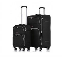 זוג מזוודות בד SWISS VOYAGER דגם Geneva במגוון צבעים לבחירה