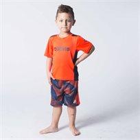 Adidas חליפה(3 חודשים-7 שנים)- כחול כתום