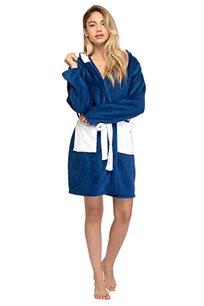 חלוק PILPEL לנשים דגם פילפילון בצבע כחול