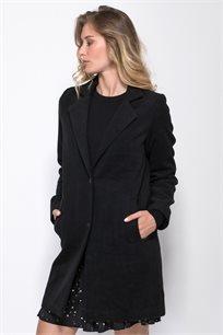 מעיל בגזרה קלאסית עם שני כפתורים וכיסים