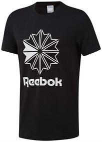 Reebok גברים // Black Classic Big Logo Tee