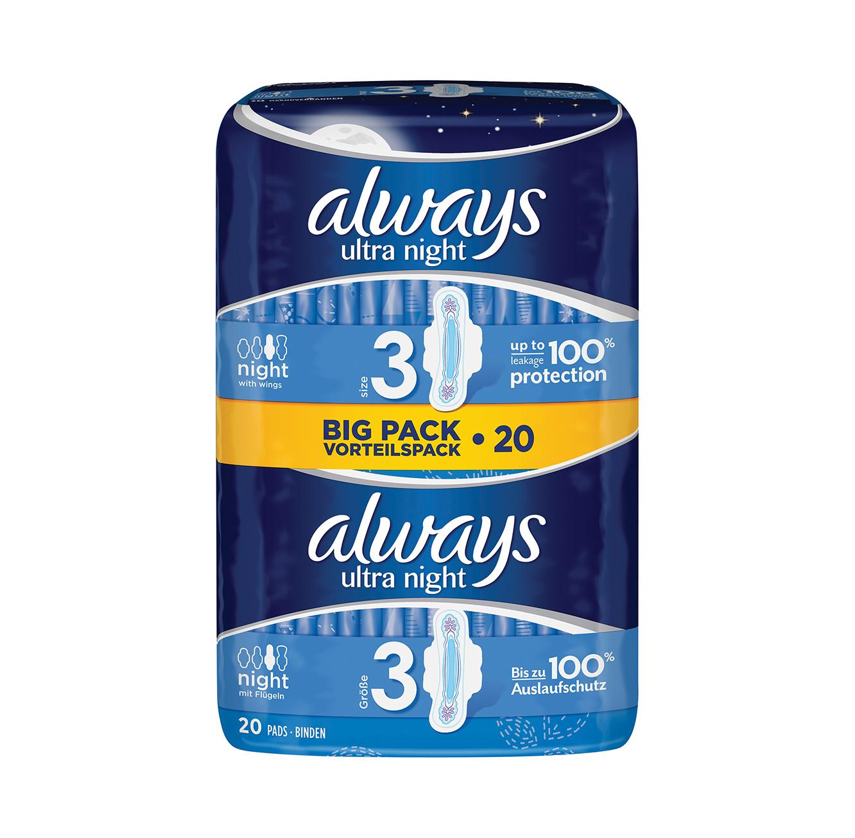 מארז 4 חבילות תחבושות Always Ultra במארזים לבחירה Always - תמונה 3