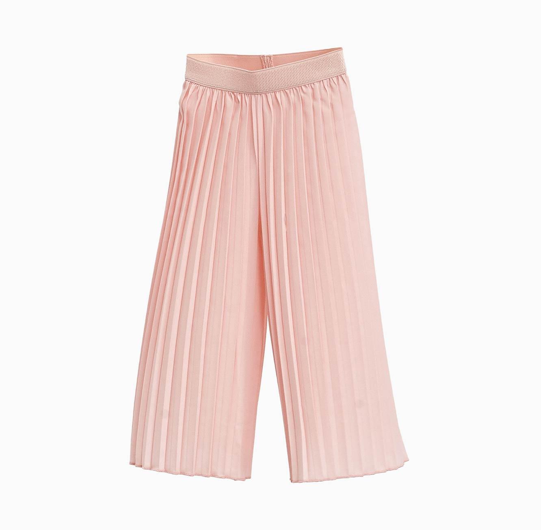 מכנסי קפלים OVS PALAZZO ארוכים לילדות בצבע ורוד