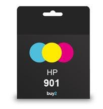 צבעים חדים! ראש דיו תואם HP 901 צבעוני, דיו איכותי למדפסת להדפסה מעולה! משלוח מהיר!