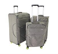 סט 3 מזוודות בד דגם TOROONTO