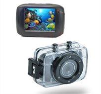 """מצלמת וידאו וסטילס HD 720p עמידה במים, עם מסך מגע 2"""", מתאימה לפעילות אקסטרים וכמצלמת דרך, רק ב-₪329!"""