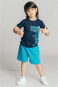 חליפת פרנץ' טרי Kiwi לבנים - כחול נייבי