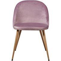 סט של 4 כיסא לפינת אוכל קטיפה Scandi - ורוד - משלוח חינם