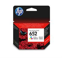 ראש דיו מקורי HP 652 צבע צבעוני, דיו איכותי למדפסת