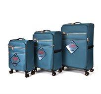 סט מזוודות קלות וגמישות 3 גדלים Slazenger U.K דגם Barcelona במגוון צבעים לבחירה