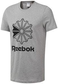 Reebok גברים // Gray Classic Big Logo Tee