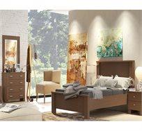 חדר שינה תמר הכולל מיטה זוגית, 2 שידות לילה, שידת 4 מגירות ומראה תוצרת LIVING ROOM