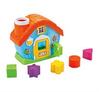 בית התאמת צורות - כולל חמש צורות הנדסיות צבעוניות