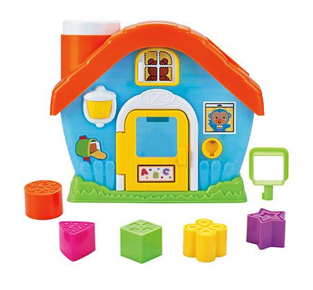 בית התאמת צורות - כולל חמש צורות הנדסיות צבעוניות - תמונה 3