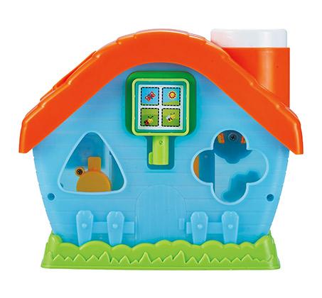 בית התאמת צורות - כולל חמש צורות הנדסיות צבעוניות - תמונה 2