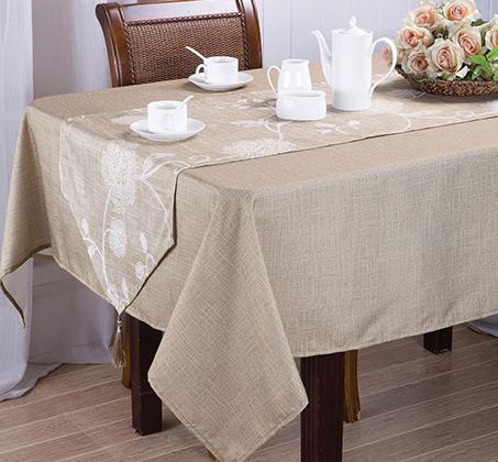 מפת שולחן עם ראנר צבע זהב