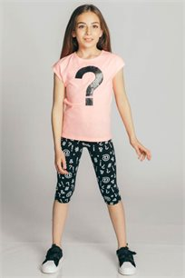 חולצת טריקו קצרה Kiwi לילדות בצבע ורוד