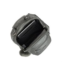 תיק גב בינוני CLAS SEOUL S - Metallic Stonyאפור מטאלי